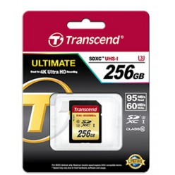 Карта памяти Transcend SDXC 256 GB UHS-I Ultimate U3 (R95, W60MB/s)