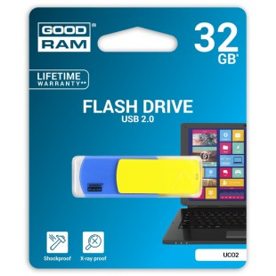 Flash Drive Goodram COLOUR 32 GB UKRAINE, Blue/Yellow