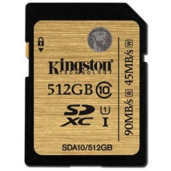 Карта памяти Kingston SDHC 512 GB (CLASS 10) UHS-I Ultimate