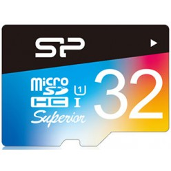 Карта памяти Silicon Power microSDHC 32 GB UHS-I Superior COLOR + ad