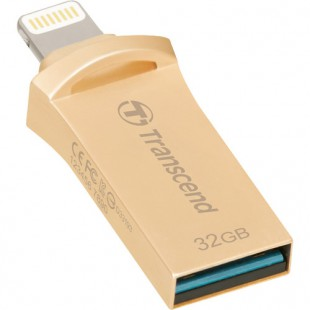 Flash Drive Transcend JetDrive Go 500 32GB, Lightning/USB 3.1 Gold