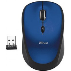 Мышь компьютерная Trust Yvi Wireless Mini Mouse Blue
