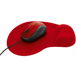 Мышь компьютерная Trust Primo Mouse with mouse pad Red