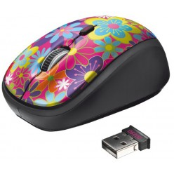 Мышь компьютерная Trust Yvi Wireless Mouse flower power