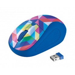 Мышь компьютерная Trust Primo Wireless Mouse Blue Geometry