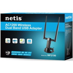 Беспроводной USB-адаптер Netis WF2190 AC 1200Mbps Wireless Dual Band 3.0 USB Adapter
