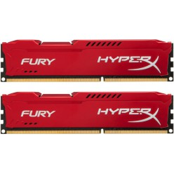 Оперативная память Kingston HyperX OC KIT DDR3 2 х 4 GB 1600 MHz CL10 Fury Red